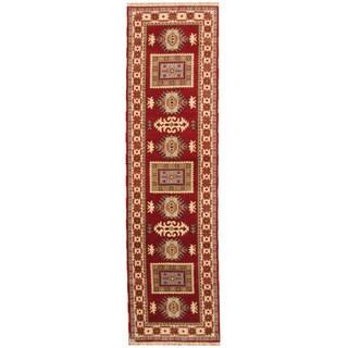 Herat Oriental Indo Hand-knotted Tribal Kazak Wool Runner (2'9 x 9'9)
