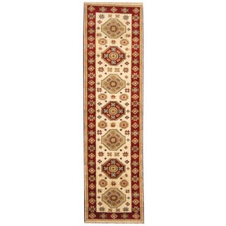 Herat Oriental Indo Hand-knotted Tribal Kazak Wool Runner (2'8 x 9'10)