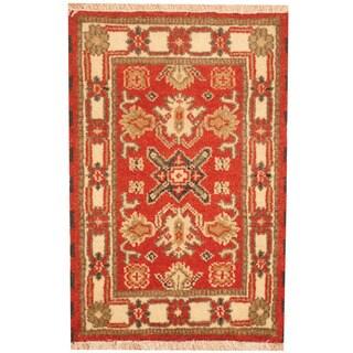 Herat Oriental Indo Hand-knotted Tribal Kazak Wool Rug (2'1 x 3'1)