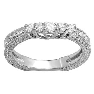 Elora 14k White Gold 2/5ct TDW Diamond Anniversary Wedding Ring (H-I, I1-I2)