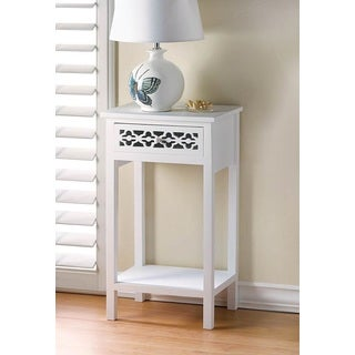 Florentine White Wooden End Table