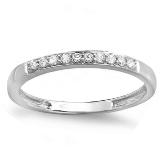 Elora 14k Gold 1/6ct TDW Round-cut Diamond Anniversary Wedding Stackable Band (I-J, I2-I3)