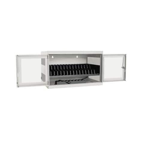 Tripp Lite 16-Port AC Charging Storage Station w/ Cart Options Chromebook Laptop White
