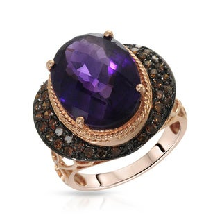 Fay Pay Jewels 14k Gold 9.60 CTW Amethyst Ring