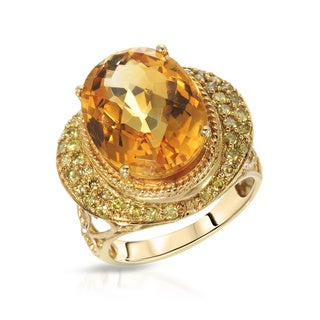 Fay Pay Jewels 14k Gold 9.63 CTW Citrine Size 7 Ring