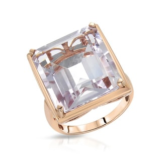 Fay Pay Jewels 10k Rose Gold 19.86 Carat TW Amethyst Ring
