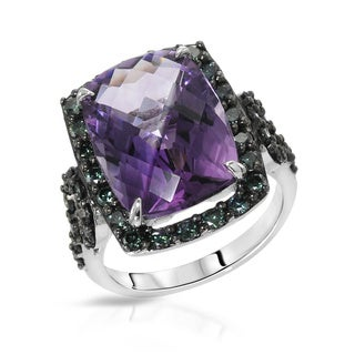 Fay Pay Jewels 10k White Gold 10.84 CTW Amethyst Ring