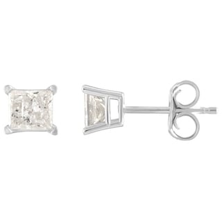 14K Diamond Stud Earring White gold (1/3cttw H-I Color, I2 Clarity) - White H-I