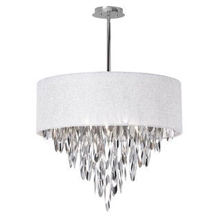 Dainolite 8-light Chandelier with White Shade