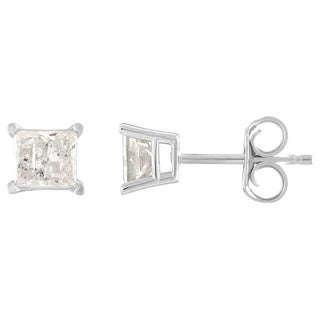 14K Diamond Stud Earring White gold (1/4cttw H-I Color, I2 Clarity) - White H-I