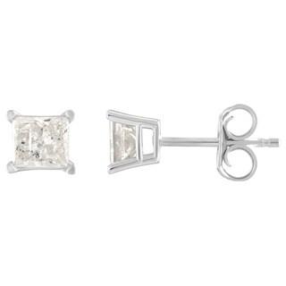 14K Diamond Stud Earring White gold (1/4cttw H-I Color, I2 Clarity) - White H-I