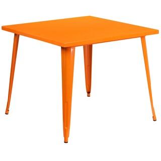 Porch & Den Stonehurst Tartarian Square Metal Indoor/Outdoor Table