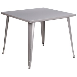 35.5-inch Square Metal Indoor-Outdoor Table