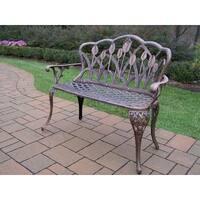 Oakland Living Corporation Antique Bronze Cast Aluminum Loveseat Bench