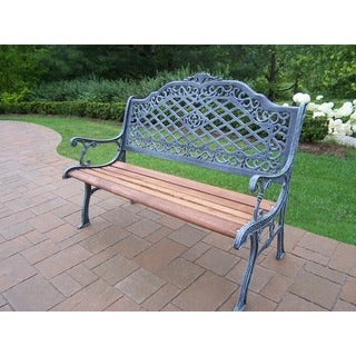 Mississippi Aluminum and Hardwood High Back Bench
