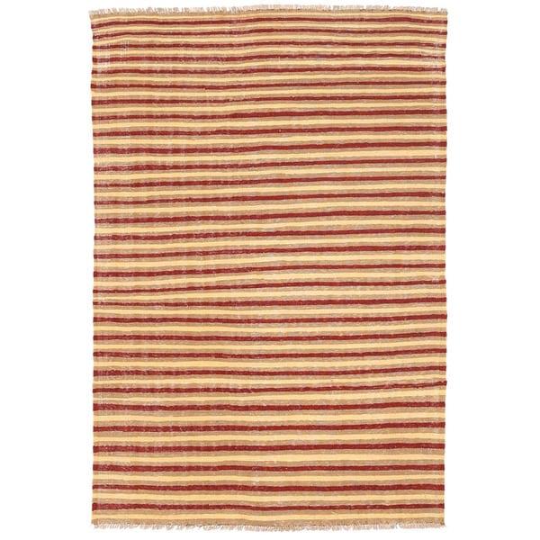 Herat Oriental Afghan Hand-woven Wool Mimana Kilim (3'3 x 4'9)