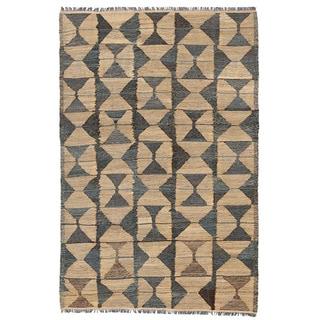 Herat Oriental Afghan Hand-woven Wool Mimana Kilim (3'3 x 5')