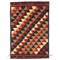 Handmade Herat Oriental Afghan Wool Mimana Kilim  - 3'5 x 5'1 (Afghanistan)