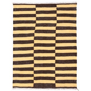 Herat Oriental Afghan Hand-woven Wool Mimana Kilim (3' x 4')