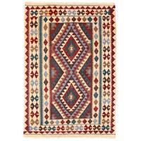 Handmade Herat Oriental Afghan Wool Mimana Kilim (Afghanistan) - 3'1 x 4'7