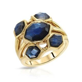 Fay Pay Jewels 14k Yellow Gold 3.23-carat Labradorite Anniversary Ring