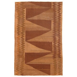 Handmade Herat Oriental Afghan Wool Mimana Kilim - 3'3 X 4'11 (Afghanistan)
