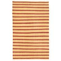 Handmade Herat Oriental Afghan Wool Mimana Kilim (Afghanistan) - 3'2 x 5'1