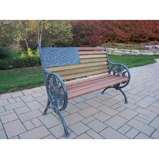 Proud American Hardwood/Metal Bench