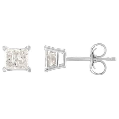10k White Gold 1/6ct TDW Diamond Stud Earrings