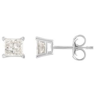 10K Diamond Stud Earring White gold (1/6cttw H-I Color, I2 Clarity) - White H-I