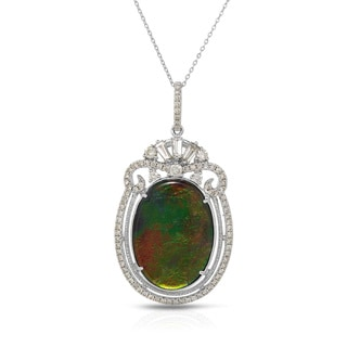 Fay Pay Jewels 18k White Gold 7.11-carat Ammolite 18-inch Necklace