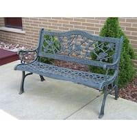 Camellia Cast Aluminum Verdi Grey Bench