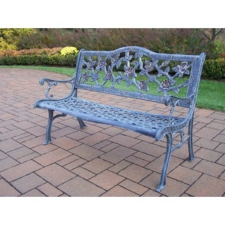 Oakland Living Corporation English Rose Cast-aluminum Bench