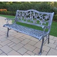 Camellia Cast Aluminum Bench