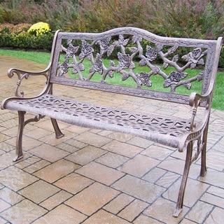 English Rose Cast Aluminum Bench