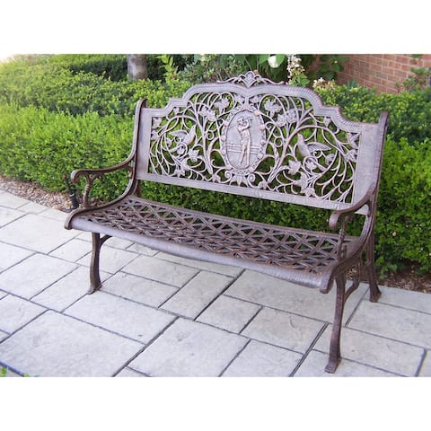 Oakland Living Corporation Golfer Cast-aluminum Bench