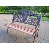 Golfer Wrought Iron and Hardwood Bench