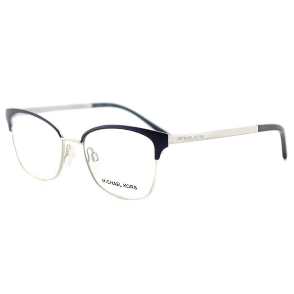 89c2a13db774d Michael Kors Adrianna IV Navy and Silver Metal Cat-eye Eyeglasses