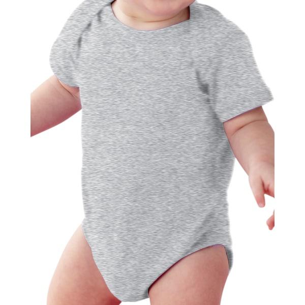 Rabbit Skins Infants' Heather Grey Fine Cotton and Polyester Jersey Lap Shoulder Bodysuit