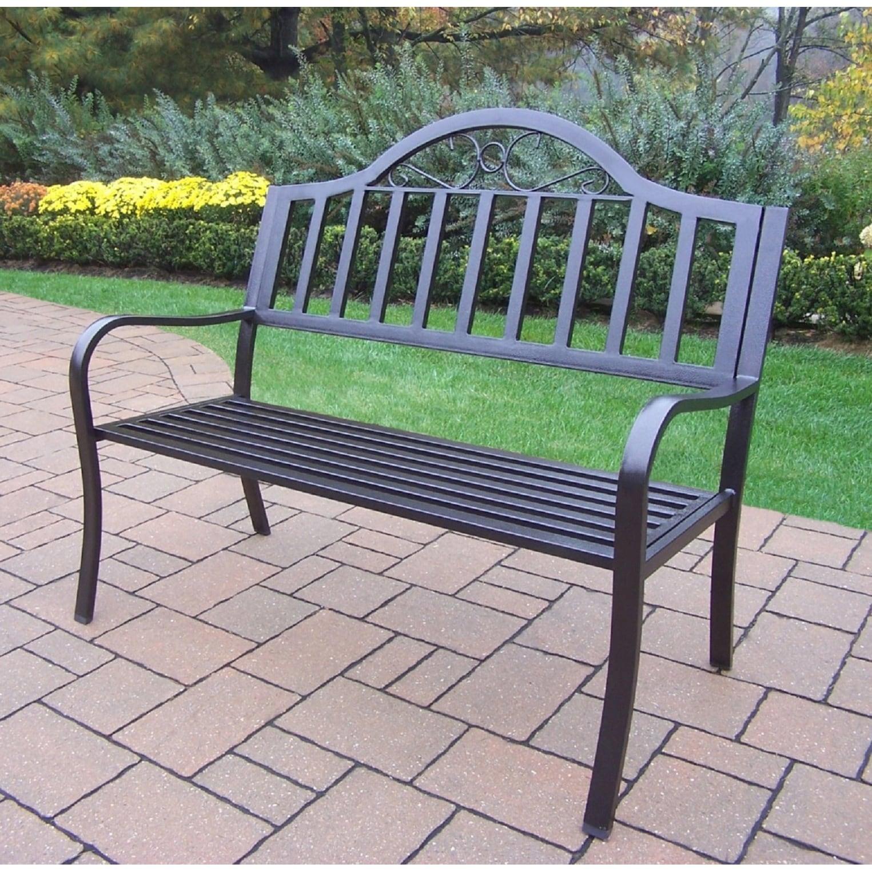 Oakland Corporation Hometown Wrought Iron Bench (Hammer T...