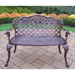 Oakland Living Corporation Black Goldtone Wrought Iron Ranger Loveseat Settee