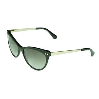 Kenneth Cole New York Women's Black/Gold/Smoke Plastic/Acetate/Metal Sunglasses