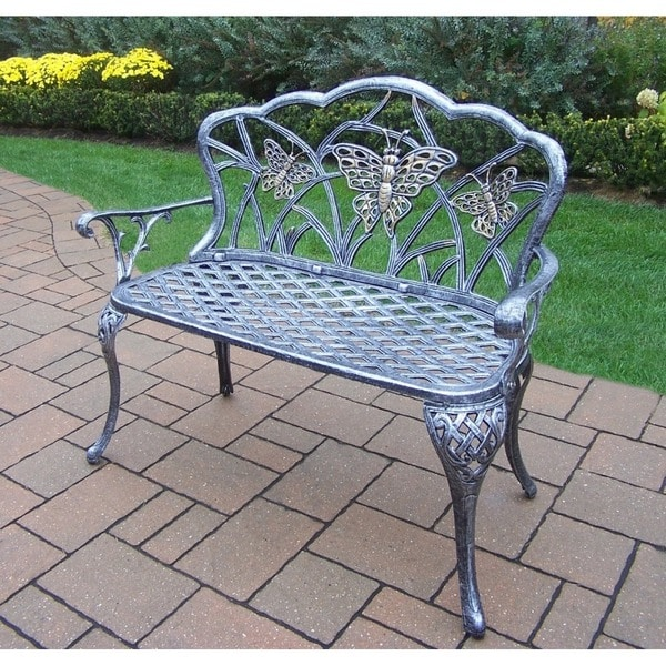 Majestic Monarch Cast Aluminum And Wrought Iron Loveseat Bench Free Shipping Today Overstock