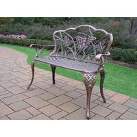 Oakland Living Corporation Majestic Cast Aluminum Loveseat Bench