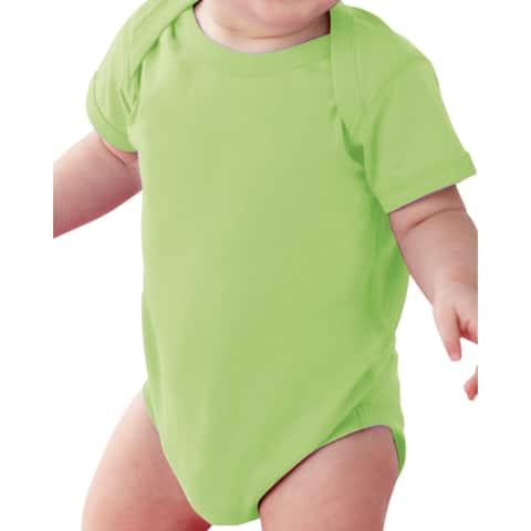 Rabbit Skins Key Lime Cotton Polyester Fine Jersey Lap Shoulder Infant Bodysuit