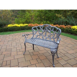 Oakland Living Corporation Grace Cast Aluminum Loveseat Bench