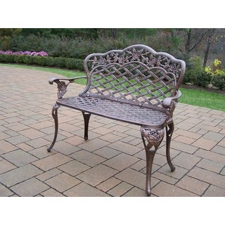 Tracker Rose Cast Aluminum Love Seat Bench