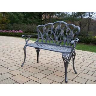 Oakland Living Corporation Tierra Cast-aluminum Loveseat Bench