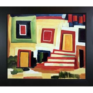 Amadeo Cardoso 'A Clear House' Hand Painted Framed Canvas Art
