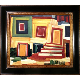 Amadeo Cardoso 'A Clear House'  Hand Painted Framed Canvas Art